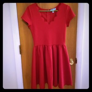 Francesca's Collection Red Dress